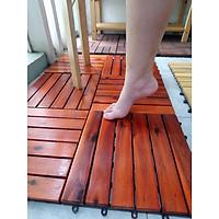 sàn gỗ tự nhiên cao cấp - 6 nan - gõ đỏ - thùng 6 tấm