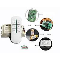 Công tắc điều khiển từ xa RF 2 cổng, 4 cổng độc lập xuyên tường + màu Trắng + Kèm Pin Remote
