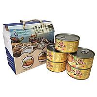 Thùng (06 hộp) Cá Mè Vinh kho lạt (210gr) - Antesco - Cá kho đóng hộp 210 gram, thực phẩm đóng hộp ăn liền (Đặc sản miền tây)