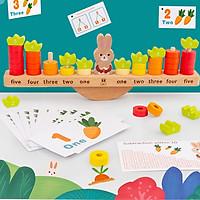 Đồ chơi gỗ cân bằng toán học giúp bé so sánh