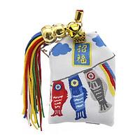 Túi gấm omamori cá học tập may mắn thiết kế sáng tạo đẹp thời trang phong cách cổ trang cổ điển tặng ảnh thiết kế vcone