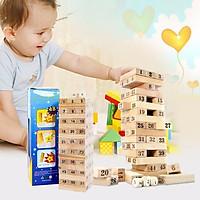 Bộ đồ chơi rút gỗ số 54 thanh loại nhỏ