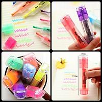 Bút đánh dấu Highlight nhiều màu đa năng - Bút lông ghi chú cao cấp.