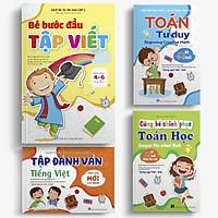 Combo 4 cuốn Tự tin vào lớp 1: Bé tập đánh vần - Bé bước đầu tập viết - Toán Tư duy - Cùng bé chinh phục toán học