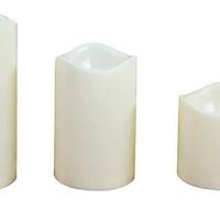 Combo 3 nến điện tử loại to vỏ sáp  (7.5 x 10 cm, 7.5 x 12 cm, 7.5 x 15 cm)