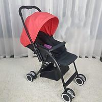 Xe đẩy 2 chiều cho bé có mái che chống tia UV - Mastela Premium T05S màu đỏ