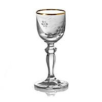 Bộ 6 ly rượu mạnh thủy tinh pha lê Glass mài nho viền vàng 24k 060 ml