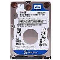 Ổ Cứng Laptop WD Blue 500G/16MB/5400/2.5/7mm - WD5000LPCX - Tặng Kèm Móc Khóa 4Tech - Hàng chính hãng