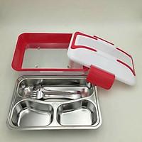 Hộp đựng cơm hâm nóng luch box, hộp đựng cơm khay inox 304 dễ dàng vệ sinh