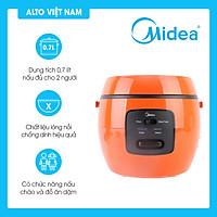 Nồi cơm điện mini MIDEA MR-CM07NB tặng kèm xửng hấp và muỗng cơm (Dung tích 700ml - Chống dính - Nấu cơm, nấu cháo) - Hàng Chính Hãng