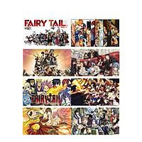 Poster 8 tấm A4 Fairy Tail Hội Pháp Sư anime tranh treo album ảnh in hình đẹp (MẪU GIAO NGẪU NHIÊN)