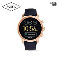 Đồng hồ nam Fossil Gen 3 Smartwatch Explorist dây da FTW4002 - màu navy