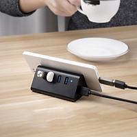 Bộ Hub Sạc 4 Cổng USB 3.0 Tăng Tốc Độ Cao Cấp Có Khay Đỡ Điện Thoại Tiện Dụng