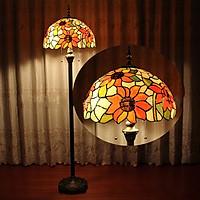 Đèn cây cao cấp kiểu dáng Tiffany hoa hướng dương