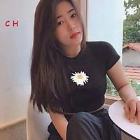 Áo croptop hoa cúc không chữ C&H