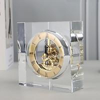 Đồng hồ để bàn pha lê hình vuông cao cấp