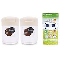 Combo 02 hộp đựng gia vị Inomata 68ml + 01 túi bột Baking Soda tẩy rửa vết bẩn đa năng 240g - Kokubo