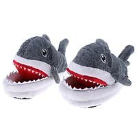 Naughty Shark Warm Soft Plush Slippers Home Winter Slippers Novelty Gift