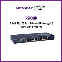 Bộ Chia Mạng 8 Cổng Switch Netgear FS108P 5 Port Fast Ethernet Unmanaged with 4 Port PoE - Hãng Chính Hãng