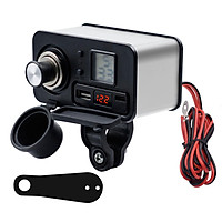 Motorcycle Mobile Phone Usb Charger 12v Waterproof Pd Fast Charging Cigarette Lighter