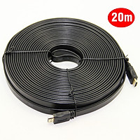 Cáp 2 đầu HDMI- dây dẹp- dài 20 mét-màu đen