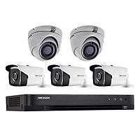 Trọn bọ 5 Camera quan sát HIKVISION TVI 3 Megapixel DS-2CE16F1T-IT chất lượng cao - Hàng chính hãng