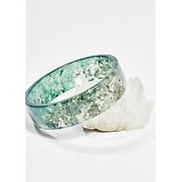 Vòng tay phong thủy đá băng ngọc thủy tảo ni 53 mệnh hỏa , mộc - Ngọc Quý Gemstones