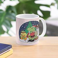 Cốc sứ uống trà cà phê in hình giáng sinh vui vẻ-  Cốc quà tặng noel