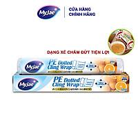 Màng bọc thực phẩm PE MyJae Đài Loan 30cmx50m dạng xé chấm đứt bảo quản thực phẩm an toàn tiện lợi