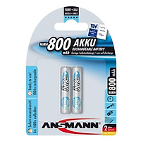 Pin sạc cao cấp ANSMANN Micro HR03 AAA-800mAh - Hàng Chính Hãng