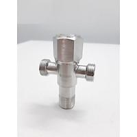 bộ 2 van inox SUS 304 chữ T cao cấp - van chia giảm áp lực nước