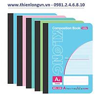 Lốc 5 quyển sổ may dán gáy 140 trang A6 - Klong 338