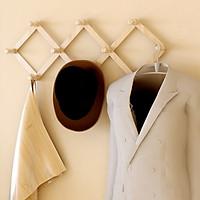 Móc treo quần áo 10 núm gỗ tự nhiên