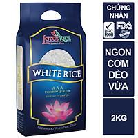 Gạo Ngọc Sen Lotus Rice 2kg - Cơm mềm dẻo ít - Chuẩn xuất khẩu