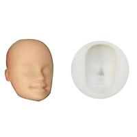 Khuôn mặt BJD Doll, Figure Tượng Búp Bê 3D số 8 Polymer Clay Đất Sét Nhật Thái