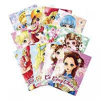 Combo 12 cuốn tô màu Trang phục công chúa (tặng kèm vỉ 6 chiếc nhẫn công chúa)