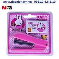 Bộ bấm kim số 10 + hộp kim M&G - 91626 màu hồng