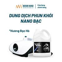 Can 5 lít phun khói nano bạc diệt khuẩn khử mùi ô tô, nhà cửa Nano Reiwa - Hương tinh dầu Bạc hà tự nhiên (hàng chính hãng).