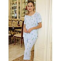 Đồ mặc nhà Bộ lửng nữ ngắn tay Tvm Luxury Homewear B489