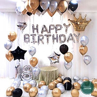 Set bóng trang trí sinh nhật, thôi nôi cho bé tuổi cún, tuổi heo, trang trí sinh nhật giá rẻ
