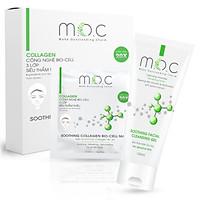 Combo Gel rửa mặt + Mặt nạ Collagen dịu da  M.O.C làm sạch sâu, thông thoáng lỗ chân lông, ngăn ngừa mụn, cấp ẩm & dịu nhẹ với mọi loại da