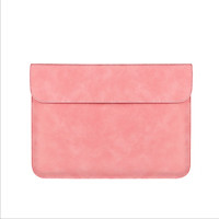 Retro Style Laptop Sleeve Bag PU Leather Cover Tablet iPad Slim Case for Macbook Air Pro 13 14 15 inch