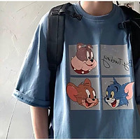 Áo thun tay lỡ form rộng họa tiết nhân vật hoạt hình Tomm - Unisex nam nữ đều mặc được