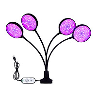 Sunlike LED Grow Light with Blue Red Light Auto On/Off 4/8/12H Timer 5 Brightness Leves Waterproof Clip Plant Growing