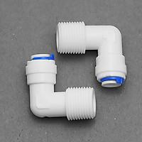 Bộ 2 co, cút nối nhanh ren 13 ra dây 10 hoặc dây 6mm – linh kiện máy lọc nước, phun sương, lắp dàn tưới cây, bể thủy sinh, cá cảnh, bán cạn (Hàng chính hãng)