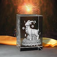 Tượng 3D Con Dê (Mùi) - Trang Trí Xe Ô tô/ Bàn Làm Việc - Bằng Pha Lê