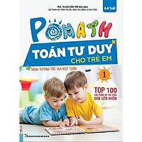 POMath - Toán Tư Duy Cho Trẻ Em 4-6 Tuổi (Tập 1) (tặng bookmark KZ)