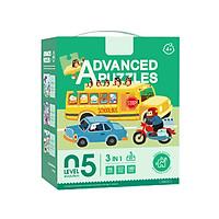 Trò Chơi Xếp Hình Thông Minh Cấp Độ - Level 5: Bộ 3 Tranh Ghép Adventure Cho Bé 4+ Tuổi