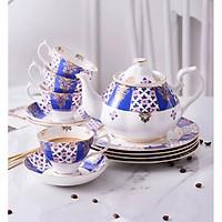 ROYAL BLUE Bộ trà hoa xanh 13 món 5257