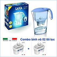 Combo Bình lọc nước LAICA J11A - Xanh biển và 02 Lõi lọc nước (MADE IN ITALY)